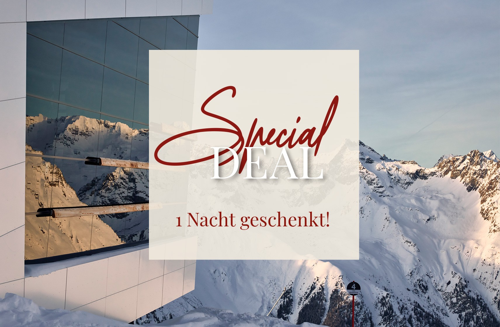 Hotel Chasa Sulai Ischgl Angebot April Special Deal